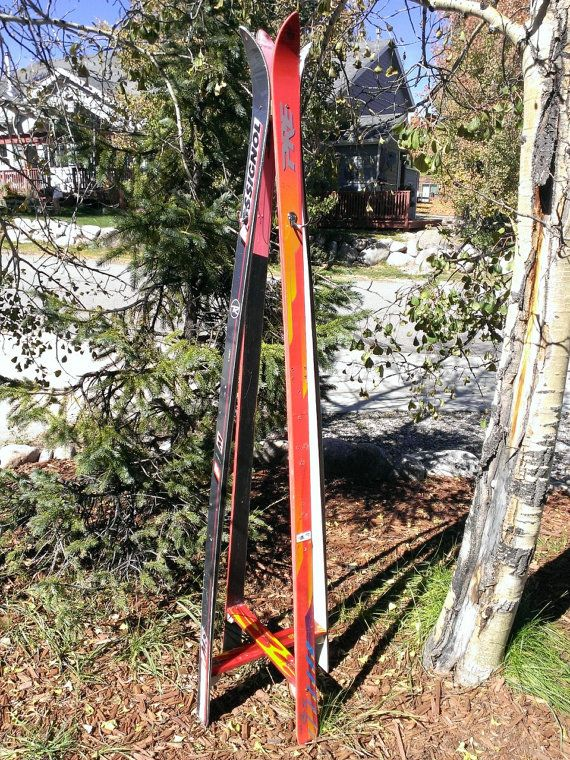Recycled Ski Coat Rack Tree Stand By Skicycled On Etsy