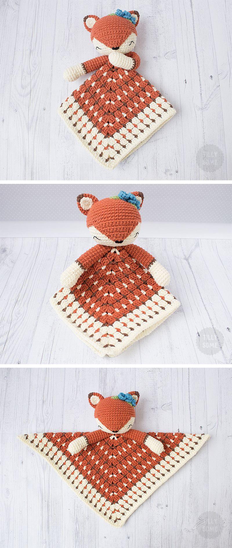 Sleepy Fox Lovey Pattern | Security Blanket | Crochet Lovey | Baby ...