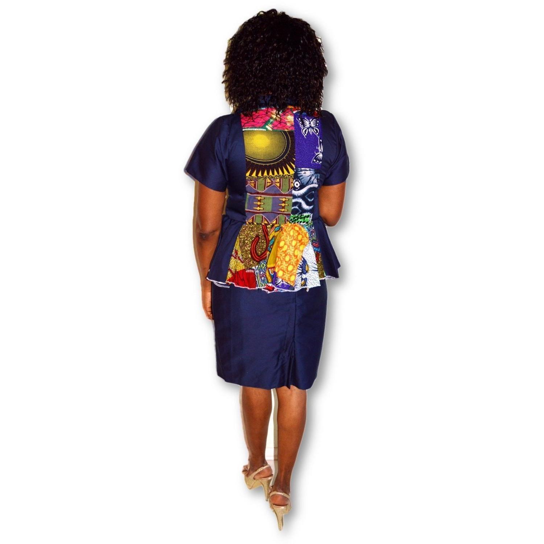 Women/'s African Print Bomber Jacket Summer Festival Outwear Size S//M