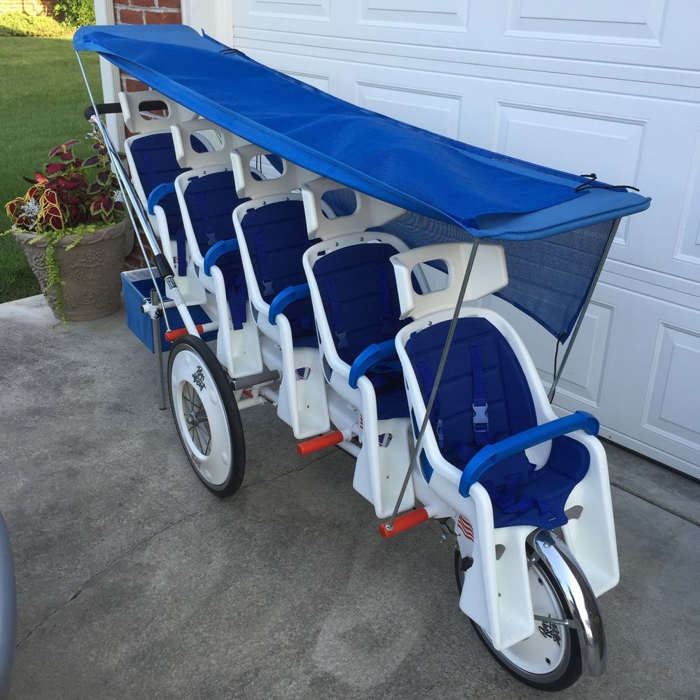 Runabout Quintuplet (5) Stroller w/canopy, many extras, a