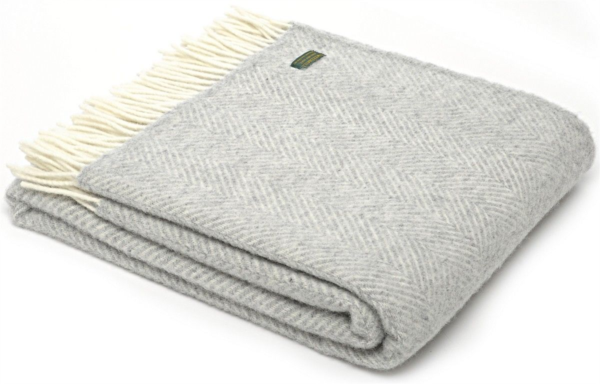 Lifestyle Herringbone Pure New Wool Throw British Made Ideal As A Furniture For Any Chair Sofa Or Bed Size 150 X Cold Wash Only