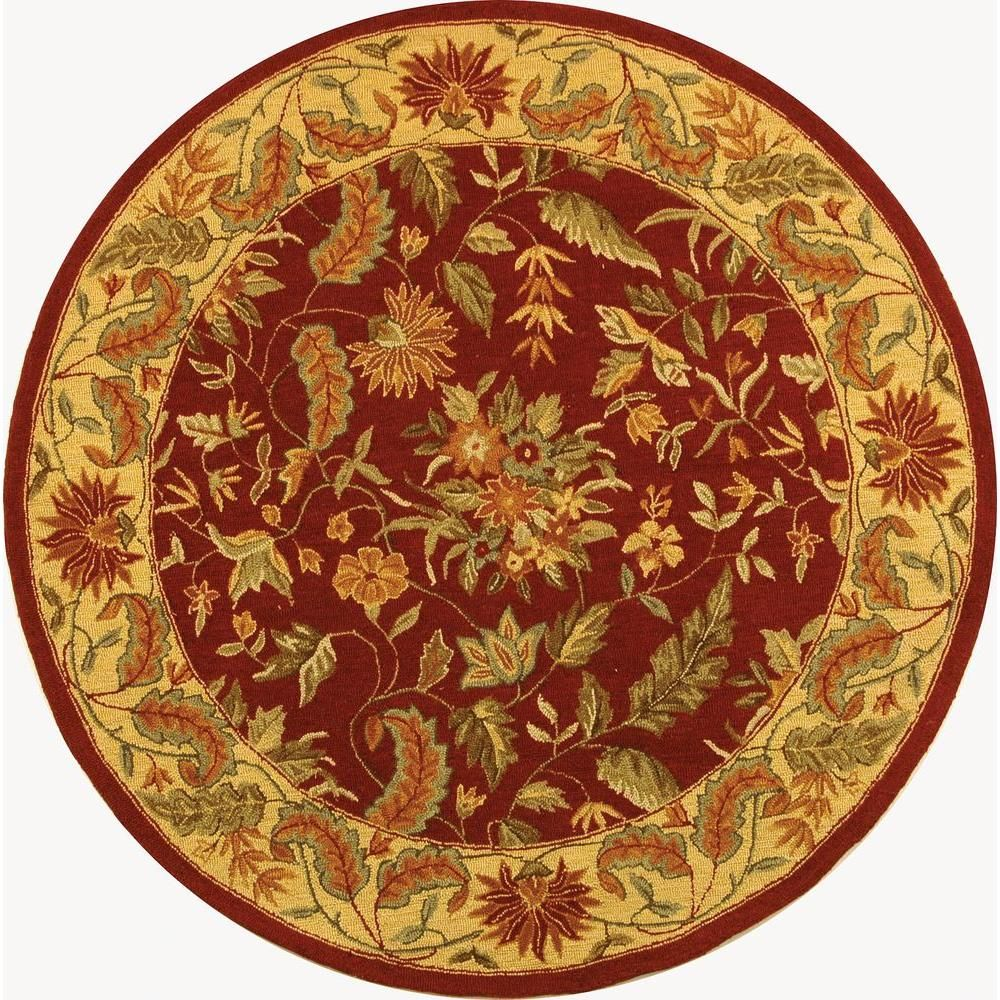 Safavieh Chelsea Red 4 Ft X 4 Ft Round Area Rug Area Rugs
