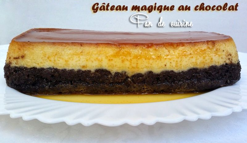 Gâteau magique vanille/chocolat