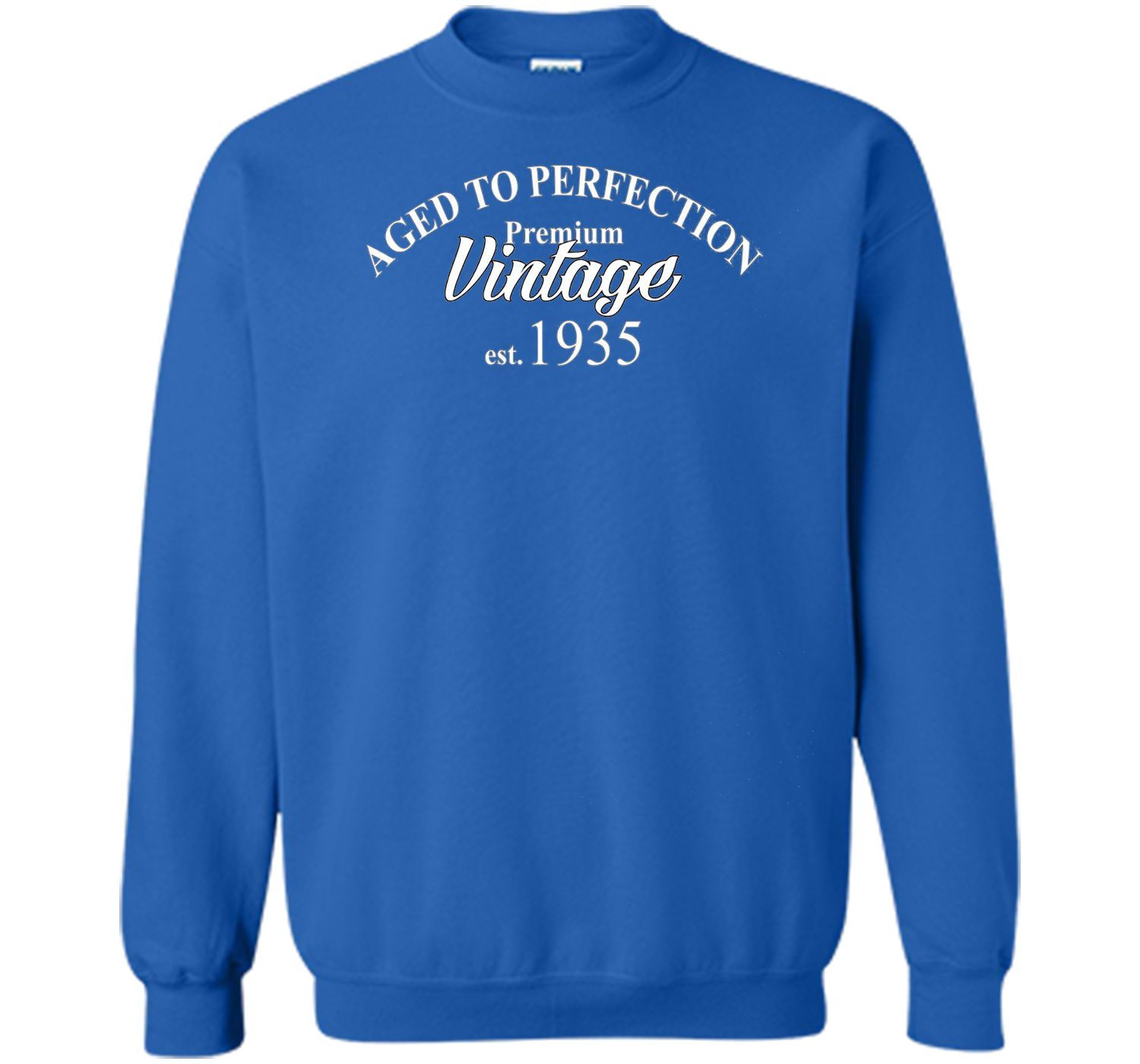 Aged to Perfection 1935 81st Birthday Funny T-Shirt Born in
