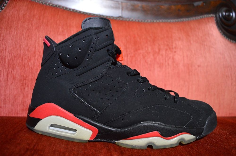 5f80e237bf67 2000 Nike Air Jordan VI 6 Retro BLACK DEEP INFRARED RED BRED 136038-061 12