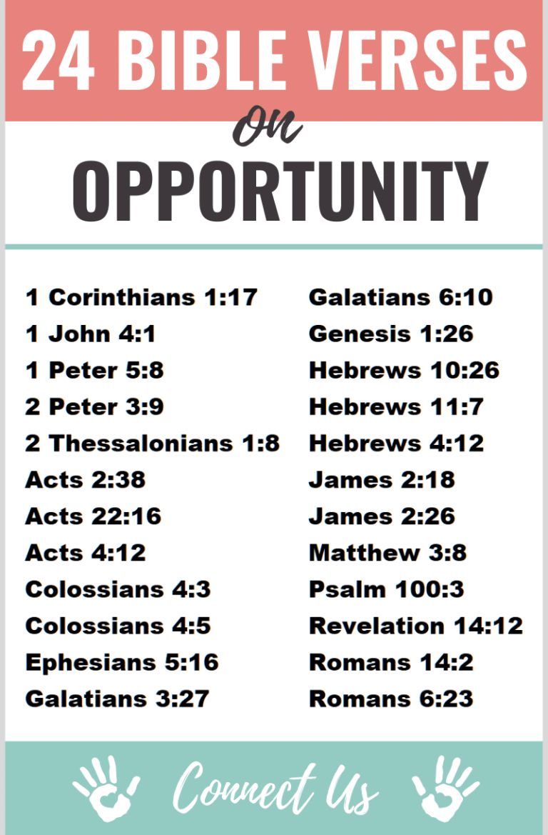 25 Encouraging Bible Scriptures on Opportunity