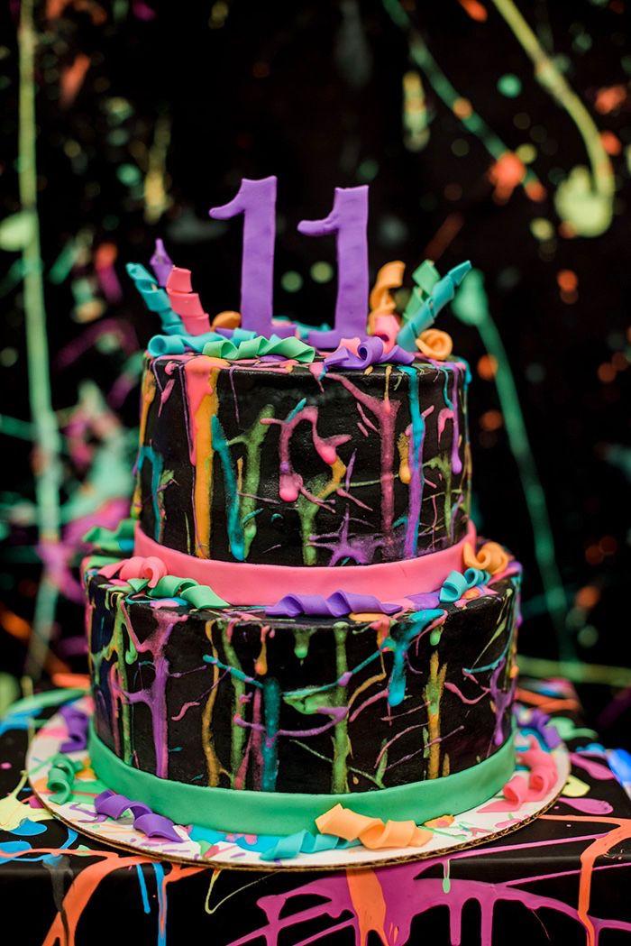Graffiti From A Neon Glow Birthday Party On Karas Ideas