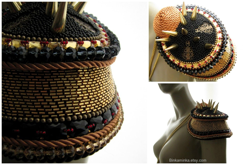 e2435898355 Samurai Epaulet Armor Binkaminka 2015   My Designs   Shoulder ...
