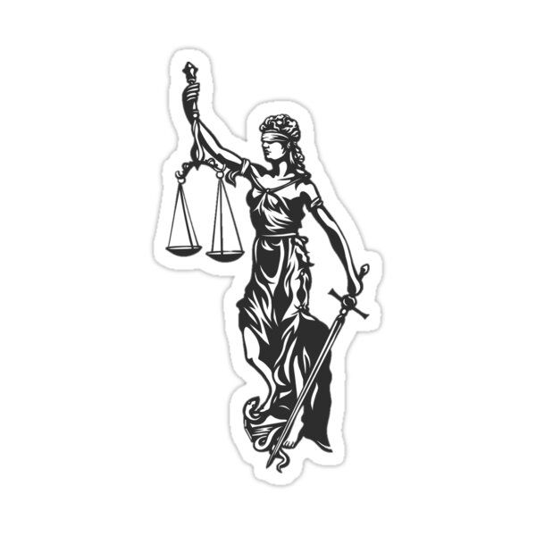 Lady Justice Sticker By Taylar Teel In 2021 Lady Justice Aesthetic Stickers Stickers