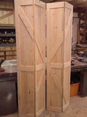 Barn Doors Bifold Using Existing Door Hardware