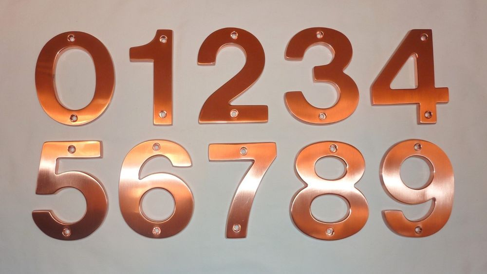 Details About Decorlux Solid Brass House Numbers 4 0 1 2 3 4 5 6