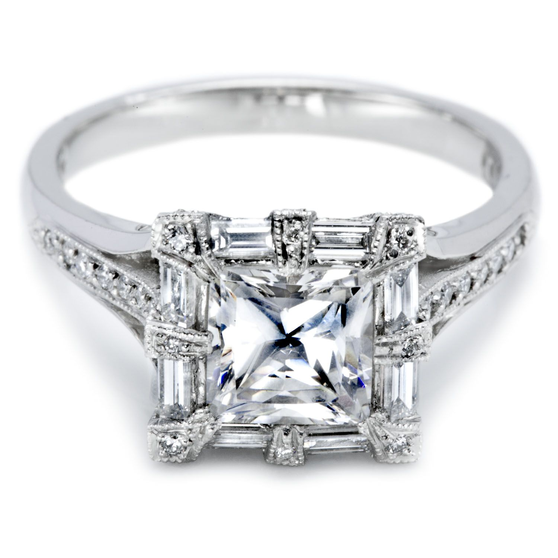 Tacori Princess Center Stone Engagement Rings for Women