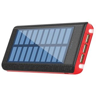 Solar Charger Ruipu 24000mah Portable Charger Power Bank With 3 Usb Port External Battery Pack Phone Cha Solar Charger Solar Phone Chargers Portable Power Bank