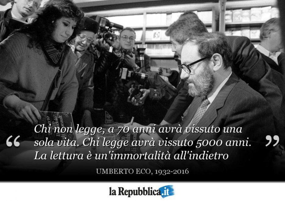 Umberto Eco In Dieci Citazioni Citazioni Lettura E Leggende