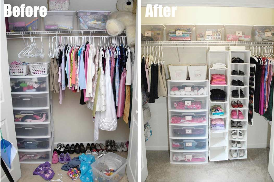 Before And After Closet Organization
