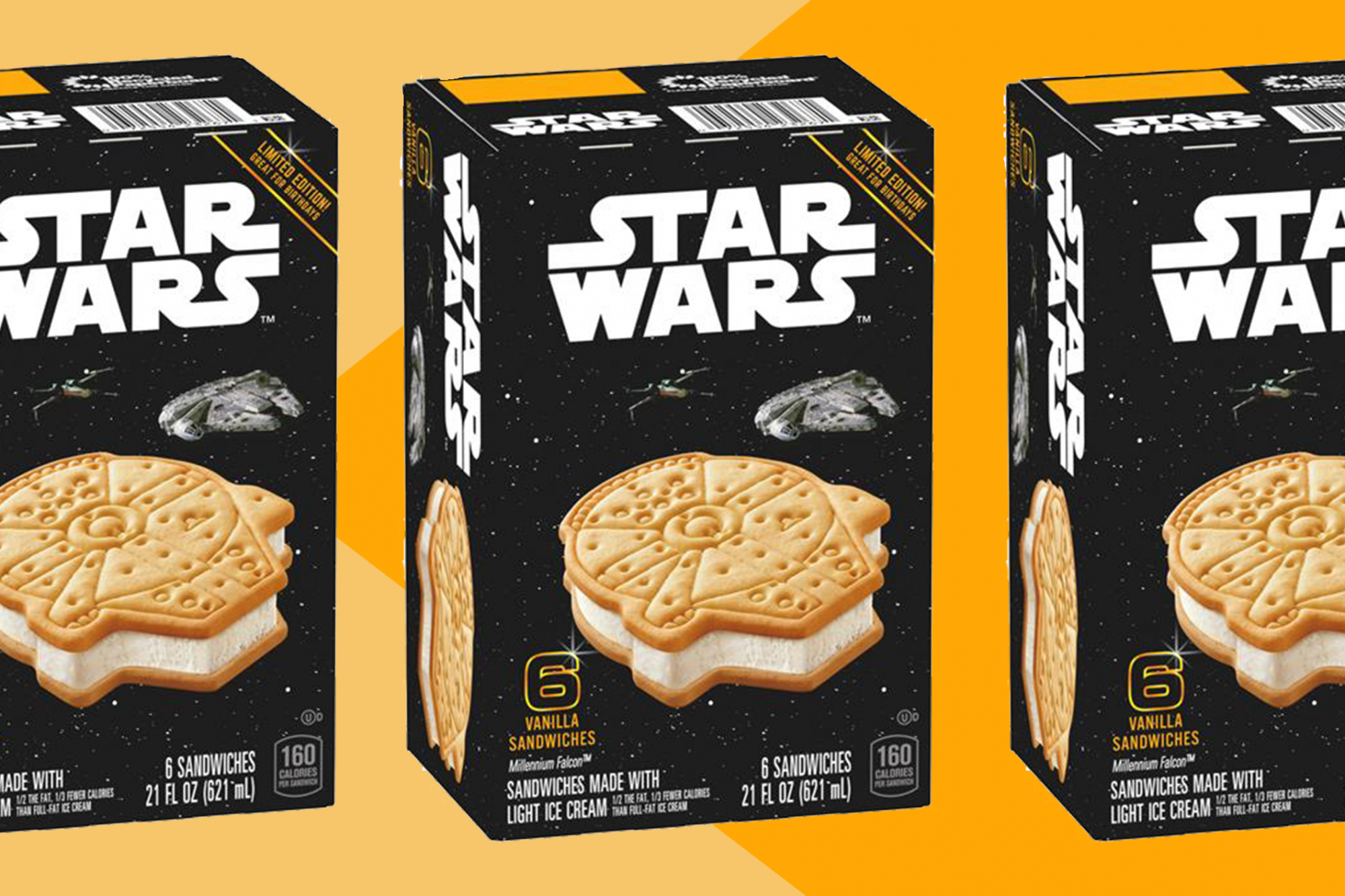These Millennium Falcon Ice Cream Sandwiches Are Out of This World #icecreamsandwich