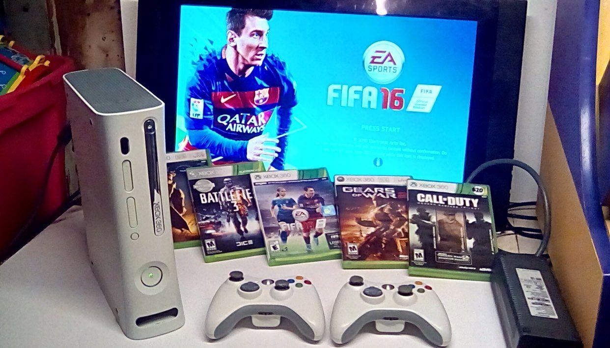 Xbox 360 Console No Hard Drive 7games Halo3 Battlefield 3