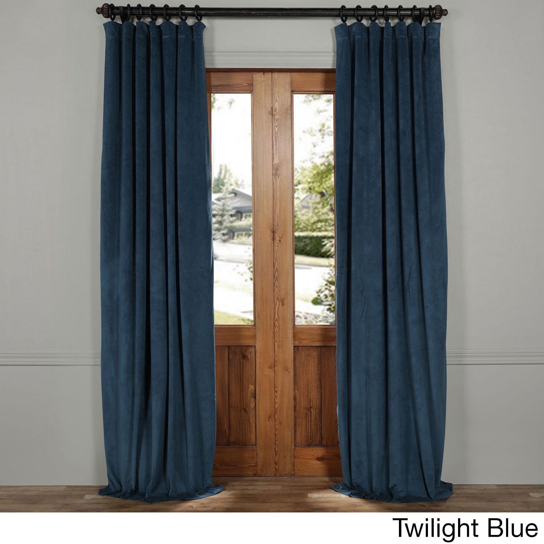 EFF Exclusive Fabrics Signature Velvet 50 Inch W X 84 To 120 CurtainsBlackout
