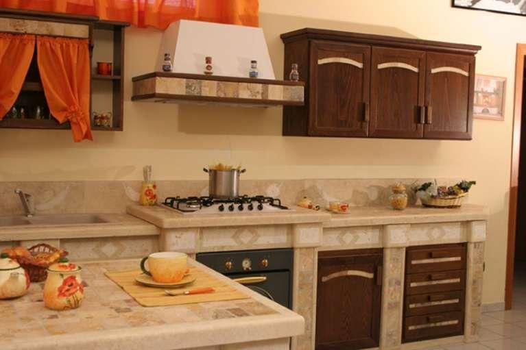 Cucine in muratura rustiche e moderne - Cucina in muratura di ...