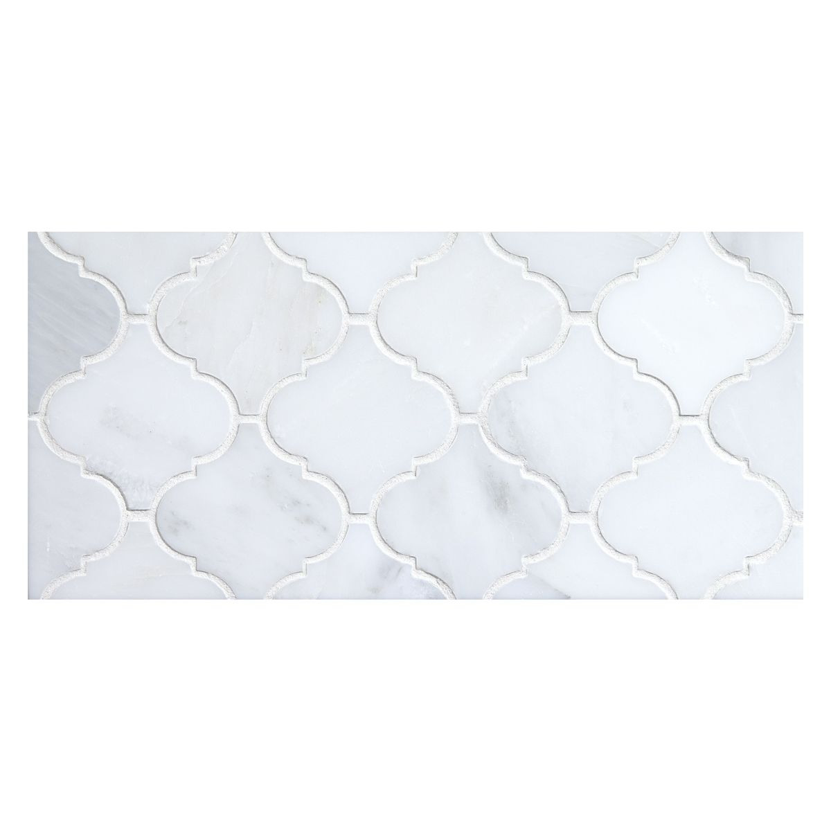 Malovi Mosaic Tile Using White Blossom Polished Marble