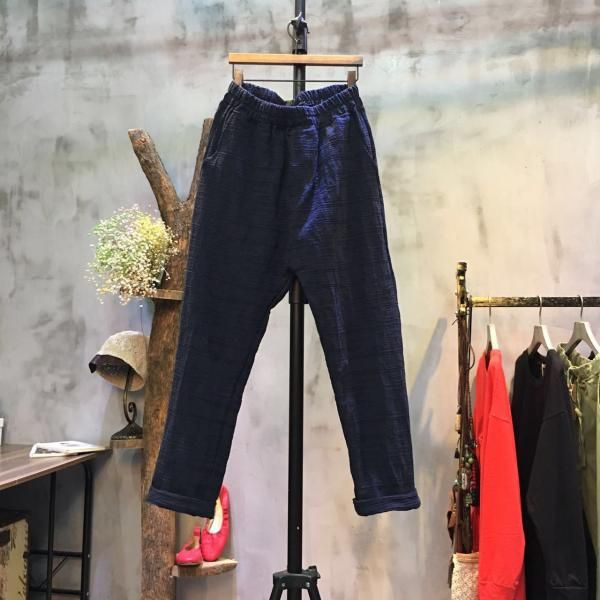 Japan Fashion Cotton Linen Pants Plain Cheap Pants Online #linen ...