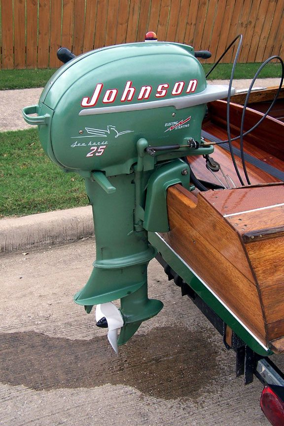 The 1955 johnson sea horse was the final year of sea horse for 4 horse boat motor