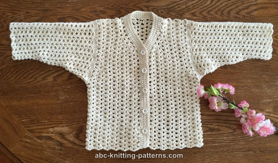 Abc Knitting Patterns Sweet Summer Baby Cardigan Baby Preemie
