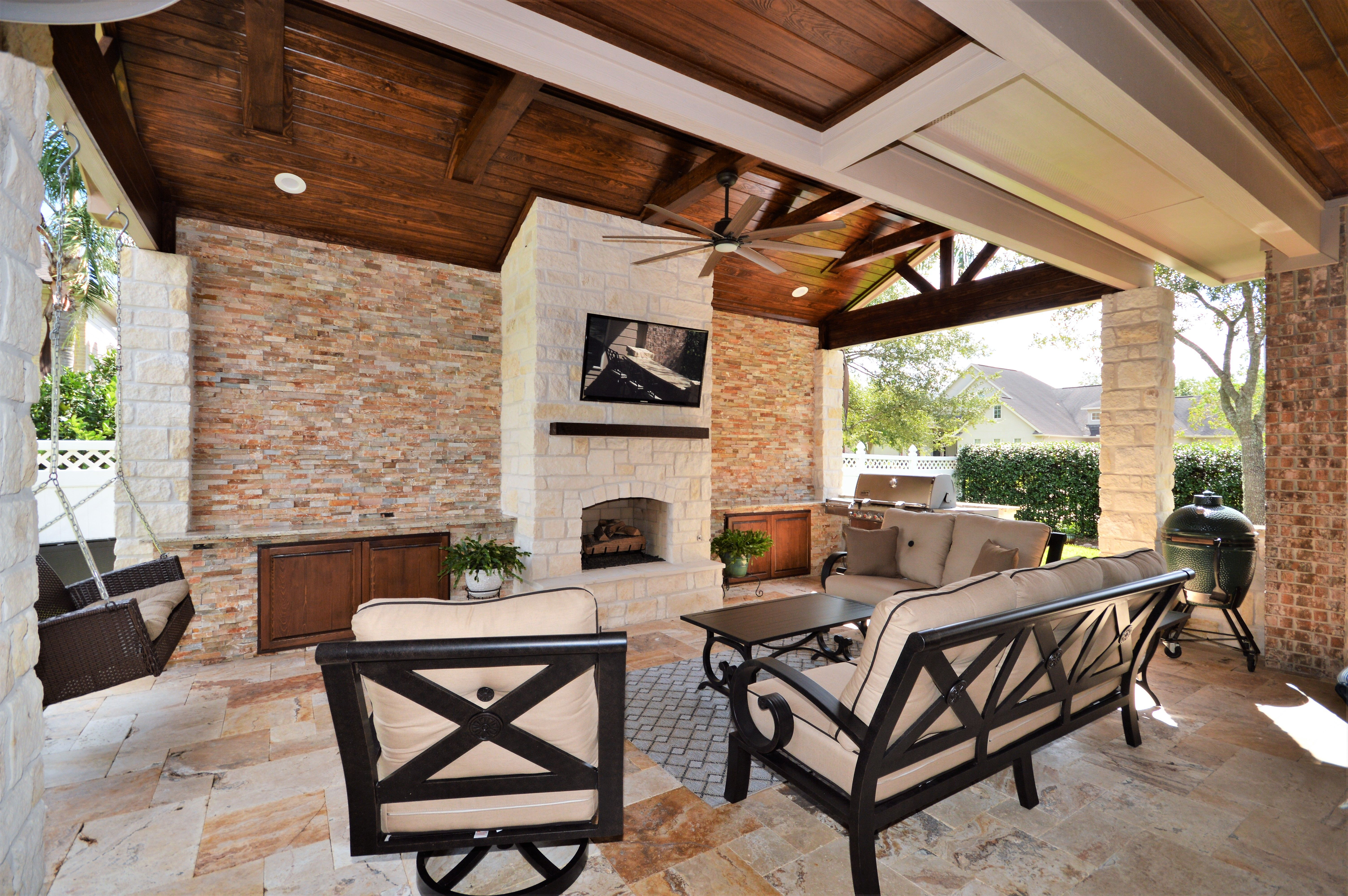 Outdoor living area built by Backyard Retreats (281) 485 ... on Retreat Outdoor Living id=62462