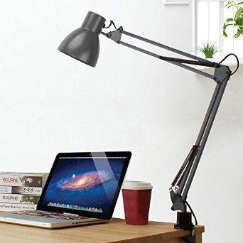Tojane Metal Architect Long Swing Arm Led Desk Lamp With Clamp Adjule Folding Twin
