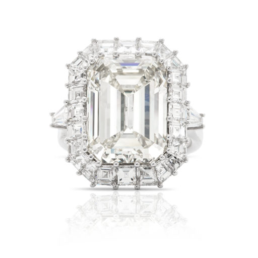 Rosendorff Couture Collection Emerald Cut Diamond Ring