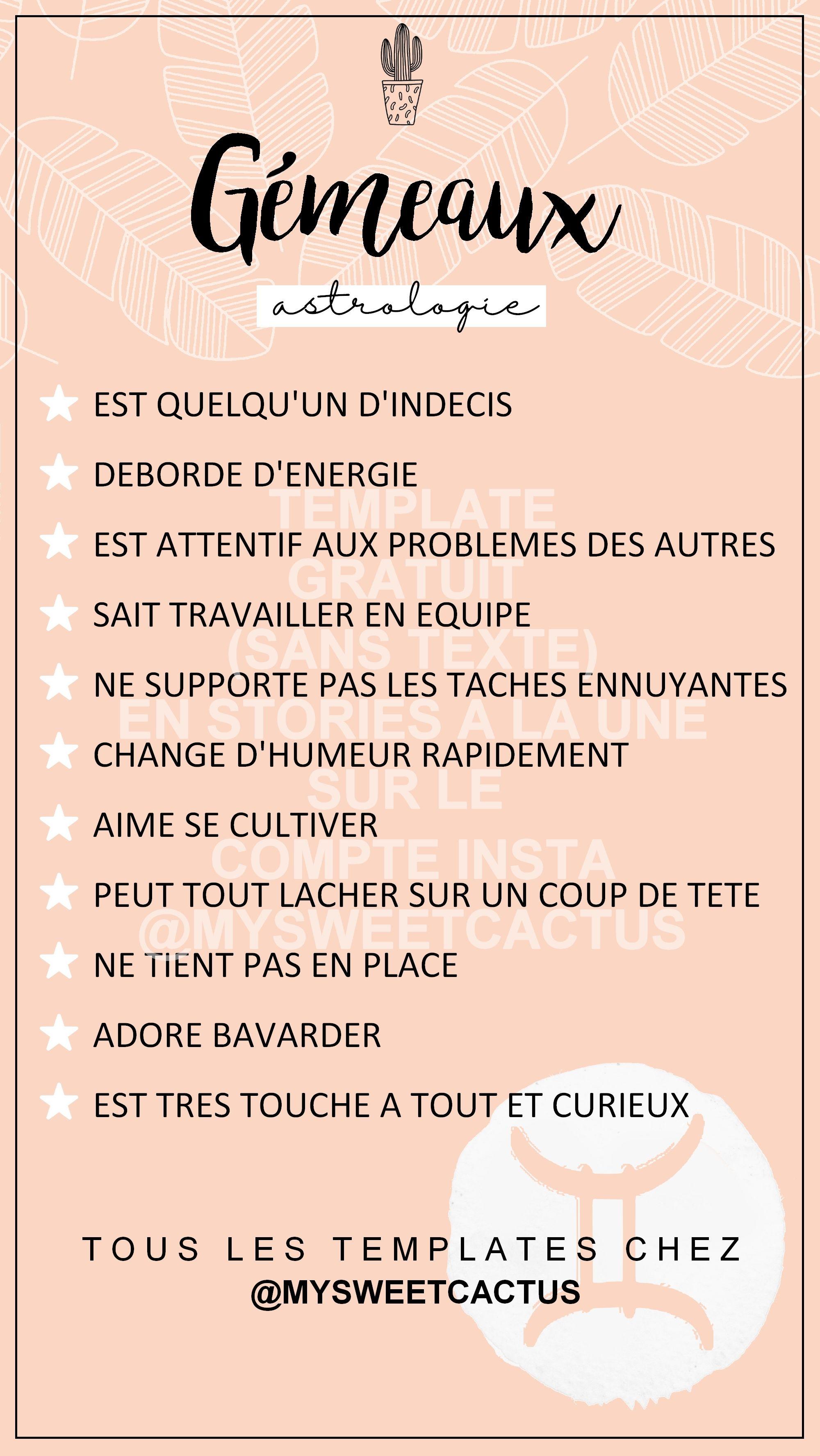 Compatibilité Verseau Taureau template instagram en français à compléter et partager en