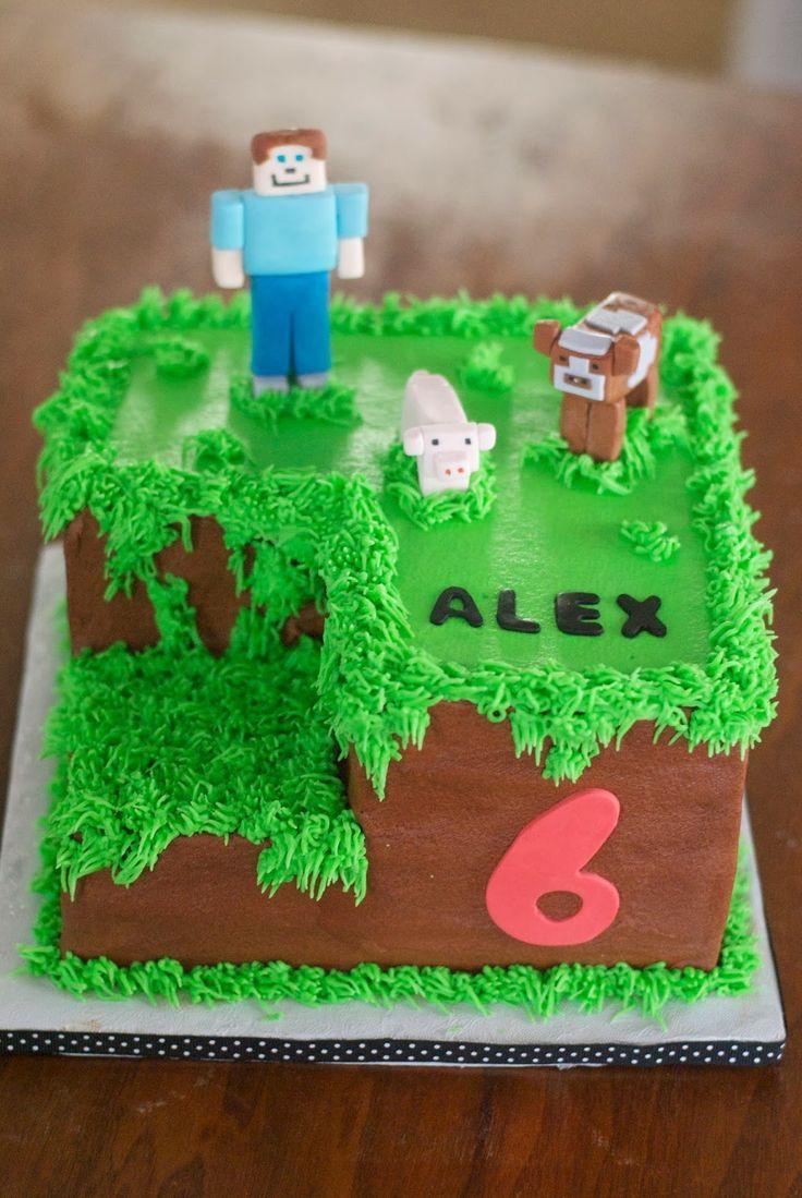 Minecraft Birthday Cake Ideas For Boys Google Search