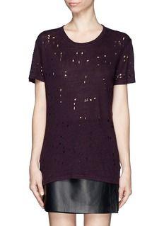 IRO'Clay' distressed linen T-shirt