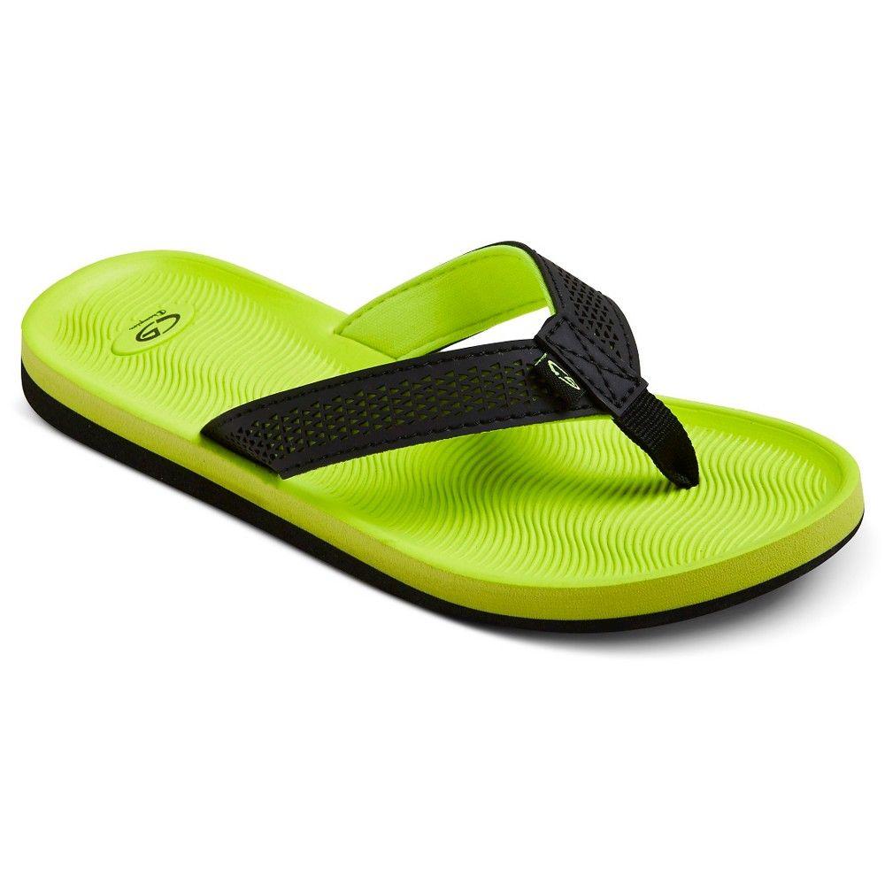 d74d33e9612 Boys  Felipe Footbed Flip Flop Sandals Yellow XL - C9 Champion ...
