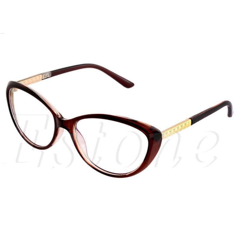 02d1c9ee2af Women Eyeglasses Frame Fashion Cat Eye Clear Lens Ladies Eye Glasses  Spectacles