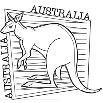 Australia Day Coloring Pages | Animations | Pinterest