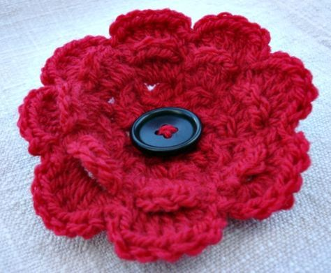 Crochet Poppy Crochet Poppy Pattern Crochet Poppy And Free Crochet