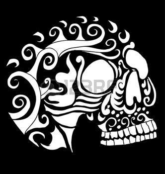 Tatouage tete de mort tatouage tribal mexicain vecteur d 39 art de cr ne tatoo pinterest tatoo - Tatouage crane mexicain ...