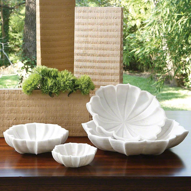 Marble Petal Bowl Large Farmhouse Decorative Bowls Bliss Home And Design Decorative Bowls