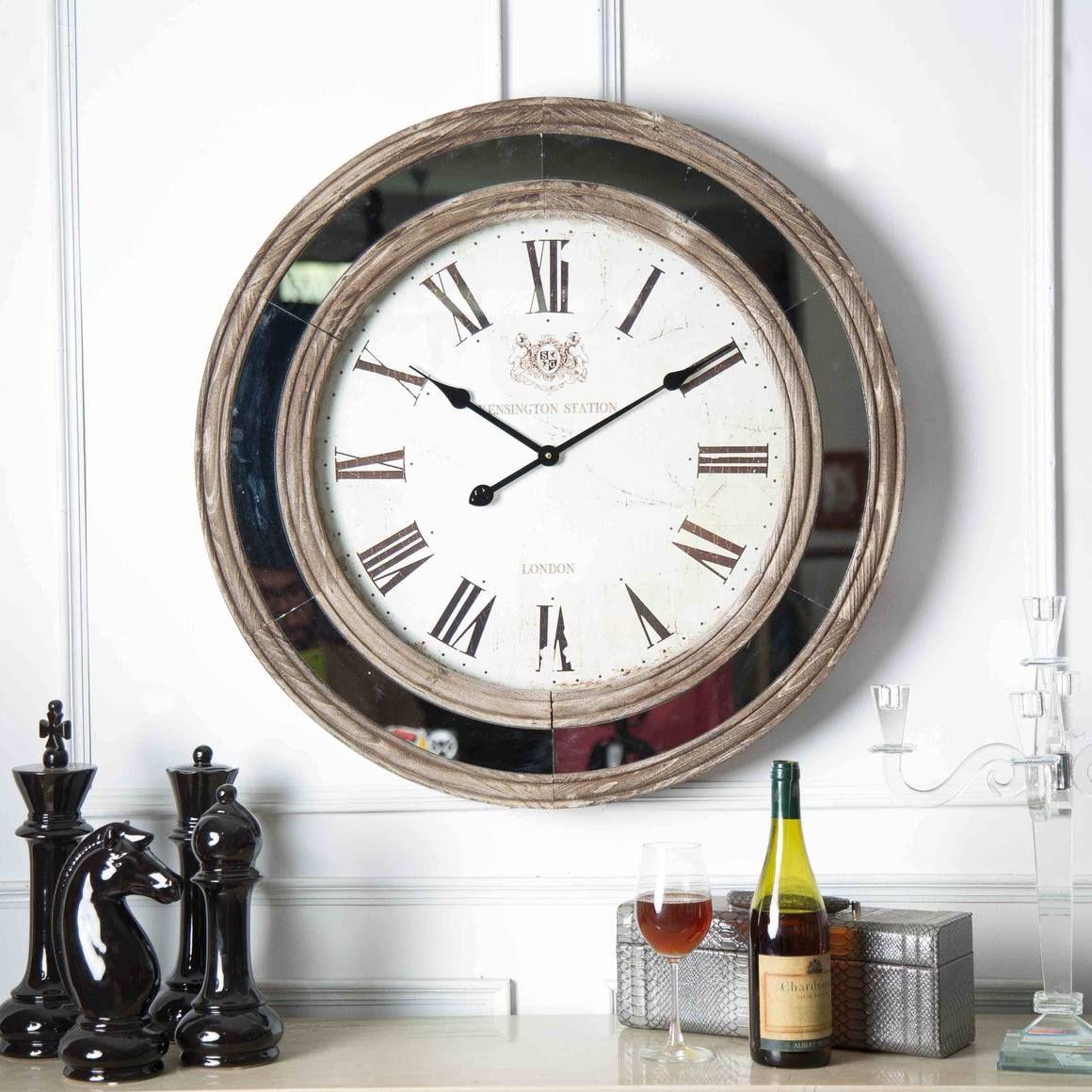 Oversized Mirror Border Clock Clock Big Wall Clocks Wall Clock Design