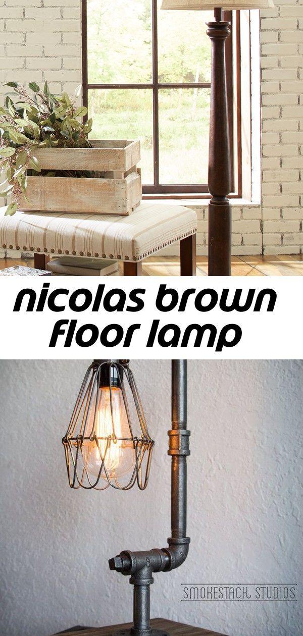 Nicolas brown floor lamp Floor lamp, Brown floor lamps, Lamp