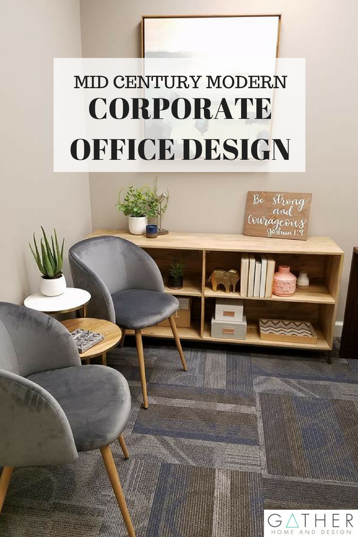Check Out This Corporate Office Design That Took A Bland E To Mid Century Modern Dream Services Home