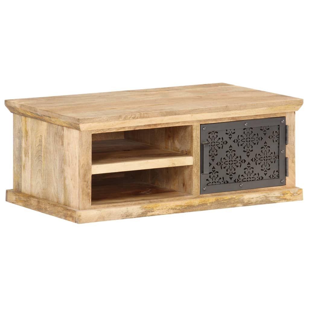 vidaXL Coffee Table with Door 90x50x35 cm Solid Wood …