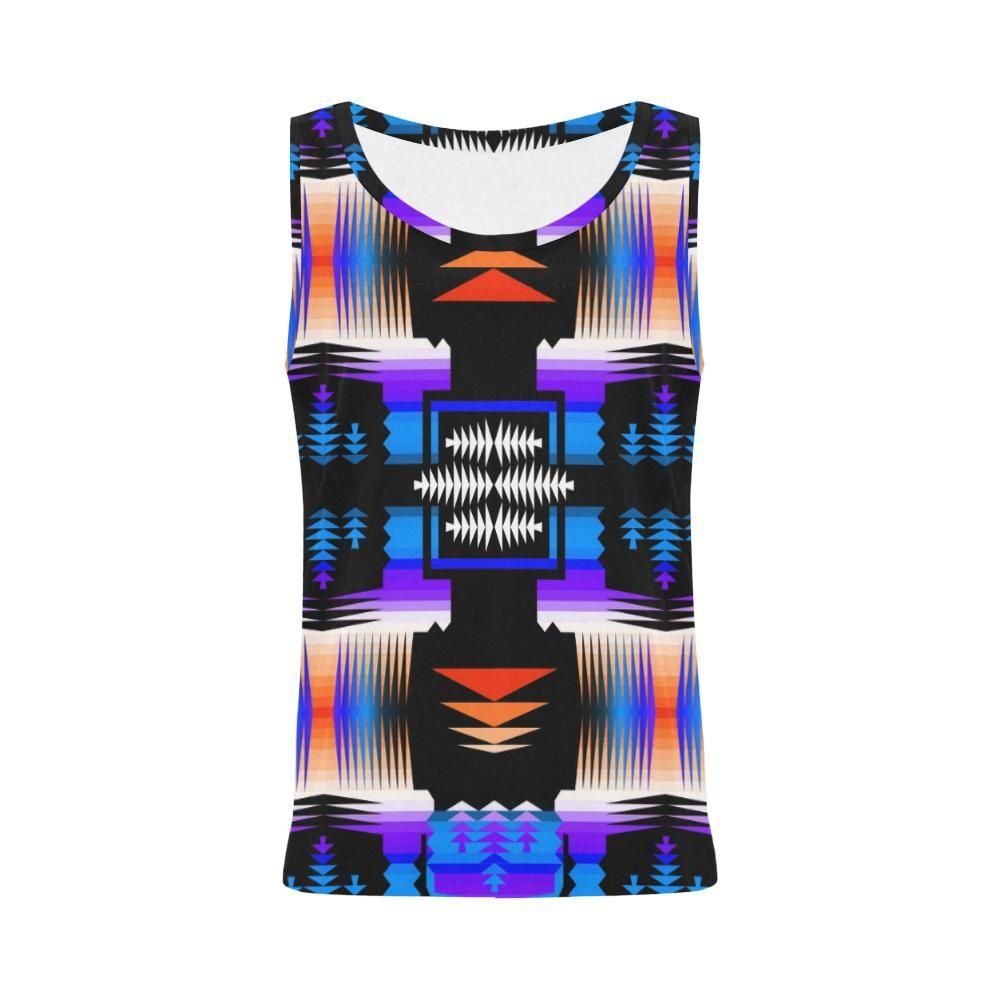 Débardeur Morning Ocean Sage All Over Print pour femme (Modèle T43)   – Shopping