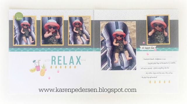 Karen Pedersen: July Play Group Layouts and Cards (Calypso)
