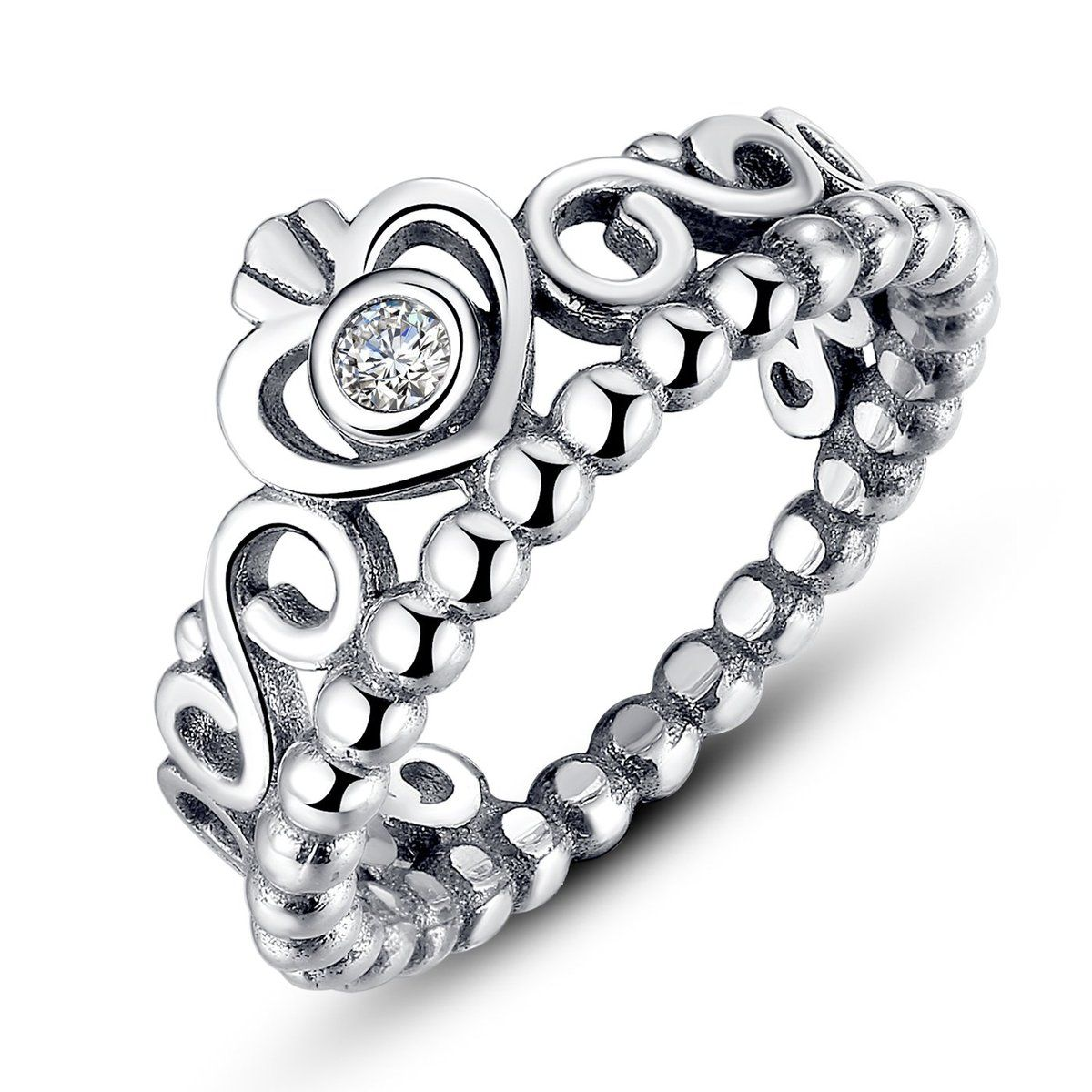 2c17e23bf 925 Sterling Silver My Princess Queen Crown Stackable Ring with Clear Cubic  Zirconia Szie 6-9 [PA7110] - $17.98 : moonbaye.com