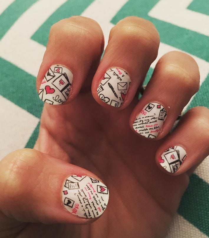 Love letter nails! #nails #valentinesday