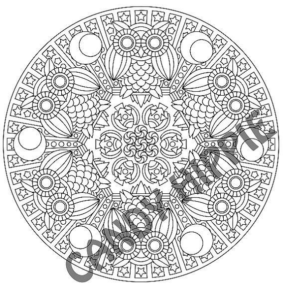 Halloween Mandala Coloring Page - Mr Mooneye - printable Halloween ...