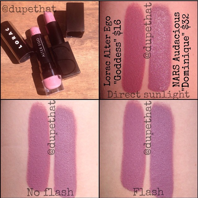 99026d93a49 @DupeThat compares the NARS Audacious lipstick in