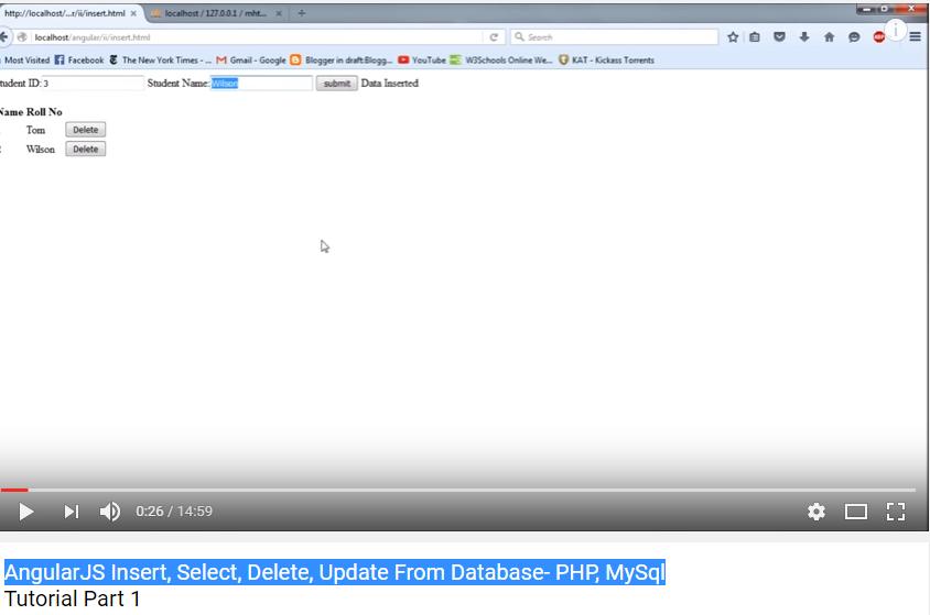 AngularJS Insert, Select, Delete, Update From Database- PHP, MySql